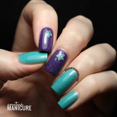 Teal the Stars Come Out via @amateurmanicure