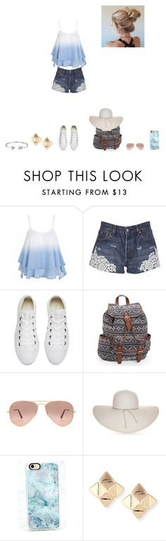 """""""Festival outfit!!"""" by mrsgomez-343 on Polyvore featuring Forte Couture, Converse, Aéropostale, Ray-Ban, Nine West, Casetify, Valentino, Bling Jewelry and festivaloutfit"""
