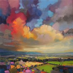Paintings by Scott Naismith He uses vivid colours in a vigorous application to represent the fast changing light conditions of the West coast of Scotland.