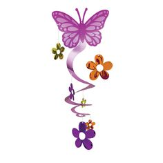 Butterfly And Flower Hanging Decoration From Wwwfiestafacilcom