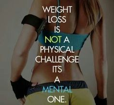 Weight loss is not a physical Challenge It's A Mental One.