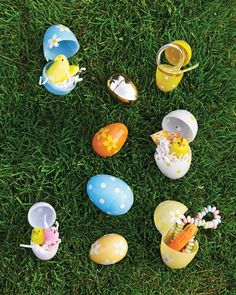Easter Egg Hunt | Dot stickers are an easy way to dress up inexpensive plastic eggs