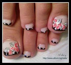 awesome Fantasy pedicure by valera from Nail Art Gallery Cute Toe Nails, Toe Nail Art, Fancy Nails, Love Nails, Pedicure Designs, Manicure E Pedicure, Toe Nail Designs, Flower Pedicure, Gorgeous Nails