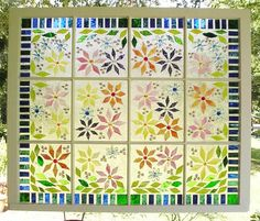 Make a faux stained glass window