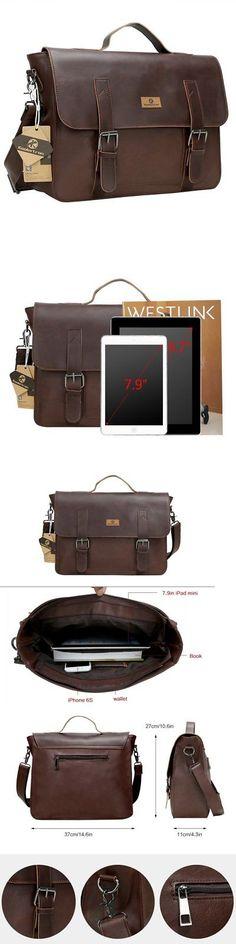Backpacks Bags and Briefcases 52357: Vintage Leather Mens Messenger Bag Satchel Briefcase Laptop College Shoulder Bag -> BUY IT NOW ONLY: $41.42 on eBay!