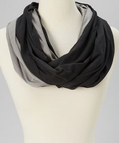 Love this Black & Gray Chain Infinity Scarf on #zulily! #zulilyfinds