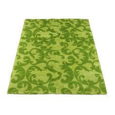 Walk On Me Modern Kiwi / Lime Contemporary Rug. Machine Washable! Just might be my new kitchen rug.