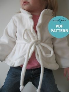 Girly Cardigan pattern and tutorial sweater 12M  by heidiandfinn, $6.00