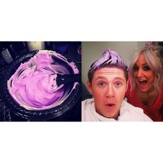 "niall went lilac! I just got done watching one d day:"") I cried near the end. I was sad it ended. what was everybodys favorite parts in the event??????????? ONE DIRECTION I LOVE YOU!!!!!!!!!!!!!!!!!!!!!!!>>>the whole time, I was just like, wait, is this just the camera, my eyes, or is Niall's hair...well...umm... Purple?"