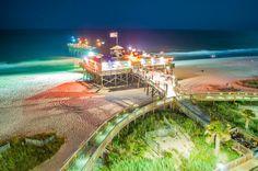 Pier 14 in Myrtle Beach Myrtle Beach Pier, Myrtle Beach Nightlife, Myrtle Beach Wedding, Myrtle Beach Vacation, Myrtle Beach South Carolina, Beach Trip, Vacation Spots, Vacation Ideas, Myrtle Beach Pictures