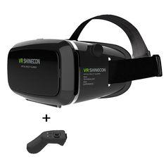 3b10b7e5bfd0 Google Cardboard VR shinecon Pro Version VR Virtual Reality 3D Glasses For  4 6   Phone +Smart Bluetooth Wireless Remote Control-in 3D Glasses  Virtual  ...