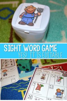 Dagnabbit Rabbit is a fun sight word game that your kindergartners or first grade students will love.  Great for word work, centers, or stations.  The words are editable, so you can add your own sight words!