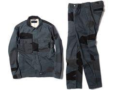 Maiden Noir for HAVEN   Big Camo Service Shirt Jacket + Service Chinos
