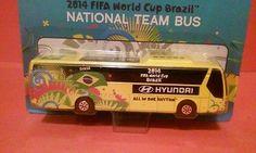 "BRAZIL SOCCER NATIONAL TEAM BUS HYUNDAI MAISTO FIFA WORLD CUP BRASIL 2014 TOY 5"""