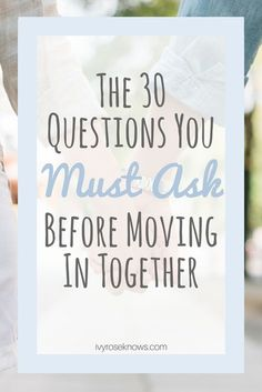 Great advice for anyone soon to be living with their significant other!
