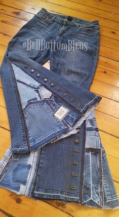 Jean Crafts, Denim Crafts, Recycled Fashion, Recycled Denim, Recycled Clothing, Denim Ideas, Altering Clothes, Hippie Outfits, Refashion