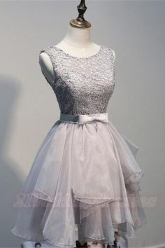 Back Up Lace Short Gray Homecoming Dresses For Girls,Handmade Graduation Dresses http://21weddingdresses.storenvy.com/collections/919482-homecoming-dresses/products/17018847-back-up-lace-short-gray-homecoming-dresses-for-girls-handmade-graduation-dre