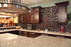 #pandakitchenandbath #backsplash #countertops #mosaic #wood #finish #island #kitchen