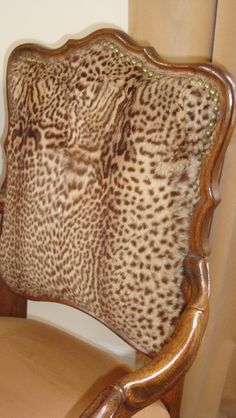 Geoffrey's leopard fur chair