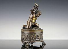 Antike Originale Vor 1945 Friedrich Ii Und Moliere Bronze 19 Jahrhundert