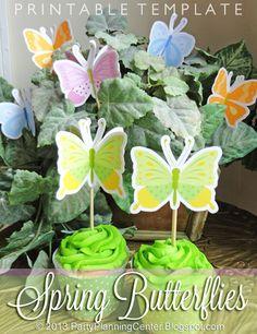 Printable Spring Butterflies