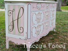 Custom Made Custom Painted French Provincial Dresser