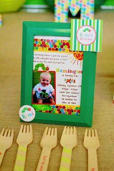 Very Hungry Caterpillar Fruit Bug Boy Birthday Party Planning Ideas
