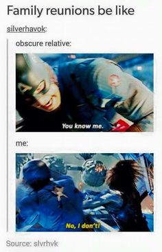 Family reunions be like... Steve and Bucky :P