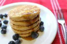 Moist and super clean coconut pancakes ~ Gluten-free, sugar-free, dairy-free!