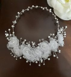 Flower Hair Accessories, Wedding Hair Accessories, Hair Jewelry, Bridal Jewelry, Celtic Hair, First Communion Veils, Hair Beads, Bridal Hair Pins, Floral Crown