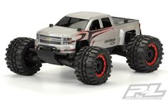 #prolineracing has developed the ultimate licensed bashing body specifically made for Pro-Line's PRO-MT – the Chevy Silverado! The body is made from extra thick GE Lexan for maximum strength just like the stock Sentinel body. #chevy #Silverado #promt Mfg part number 3444-00