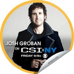 Steffie Doll's Josh Groban on CSI: NY Sticker | GetGlue