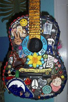 Sixties Mosaic Guitar by Kathy Prescott Parker   Flickr - Photo Sharing!