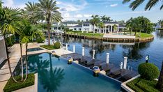 Inside a $45 Million Boca Raton Home With Room For Your Yacht – Robb Report South Beach, Miami Beach, Miami Houses, Downtown Miami, Living Room Photos, Coral Springs, Massage Room, Expensive Houses, Custom Built Homes