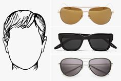 59b7a8e8c0cd A Guide to Sunglasses and Face Types, for Men. Wearing  GlassesGearsSunglassesMens ...