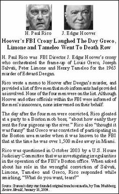 Timeline of the fbi s four decades long cover up of for Edward deegan