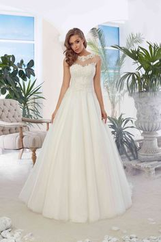 Princess Sheer Tulle Back Tulle and Applique Wedding Bridal Dresses Floor  Length White vestido de novia-in Wedding Dresses from Weddings   Events on  ... 6e8eacbf672e
