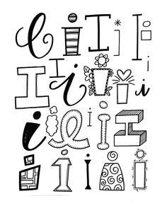 I letters alphabet font