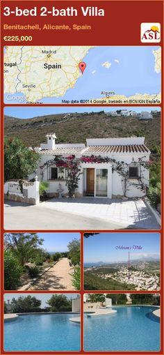 3-bed 2-bath Villa in Benitachell, Alicante, Spain ►€225,000 #PropertyForSaleInSpain
