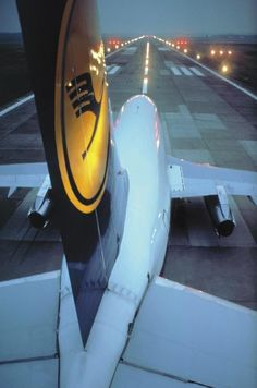 view from top of lufthansa 737-200