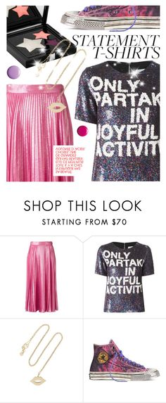 """""""Say It Loud: Slogan T-Shirts"""" by cultofsharon ❤ liked on Polyvore featuring Gucci, Ashish, Sydney Evan and Rene"""