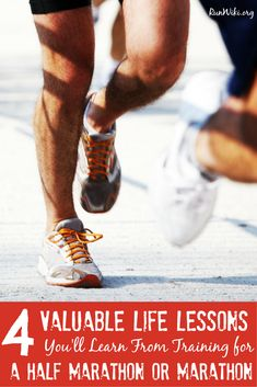 4 valuable life lessons you will learn from running a half marathon. This tips were so true not only on how to mentally prepare for a race, but also your life, especially number 3. Running motivation | quotes