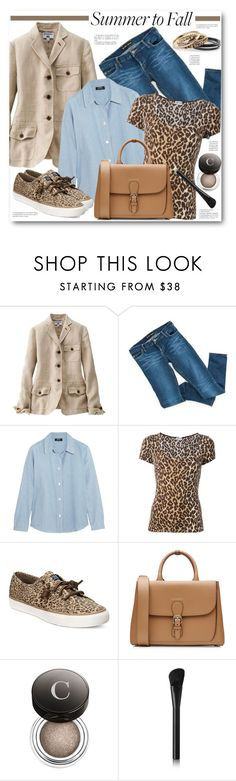 """""""Layering: Summer to Fall"""" by brendariley-1 ❤ liked on Polyvore featuring Uniqlo, Bardot, A.P.C., Dolce&Gabbana, Sperry, Burberry, Chantecaille, NARS Cosmetics, layers and summertofall"""