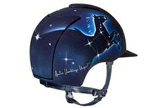 KEP -- 10 HELMETS TO HELP HORSES This is the first one and it is signed by the italian showjumper Giulia Martinengo.