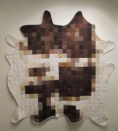 Cow Hide Quilt  original hand made one of a kind by gggreatwhite, $700.00