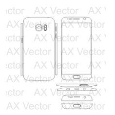 Samsung Galaxy S7 Vector Template