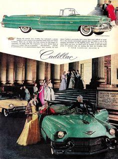 1958 Cadillac ad -- Boston Museum of Fine Arts