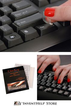 Click here to purchase the ClearKey®! It protects against bacteria, mold and fungus accumulating on the keyboard, along with reducing the clicking from your fingernails. Available for laptop and PC via inventhelpstore.com.