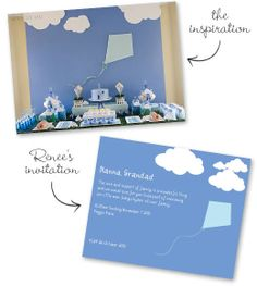 Little blue kite party for baby Indigo
