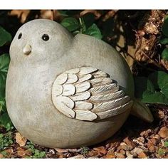 "8"" Pudgy Pals Weather Finished Gray and White Bird Outdoor Garden Statue Figure"